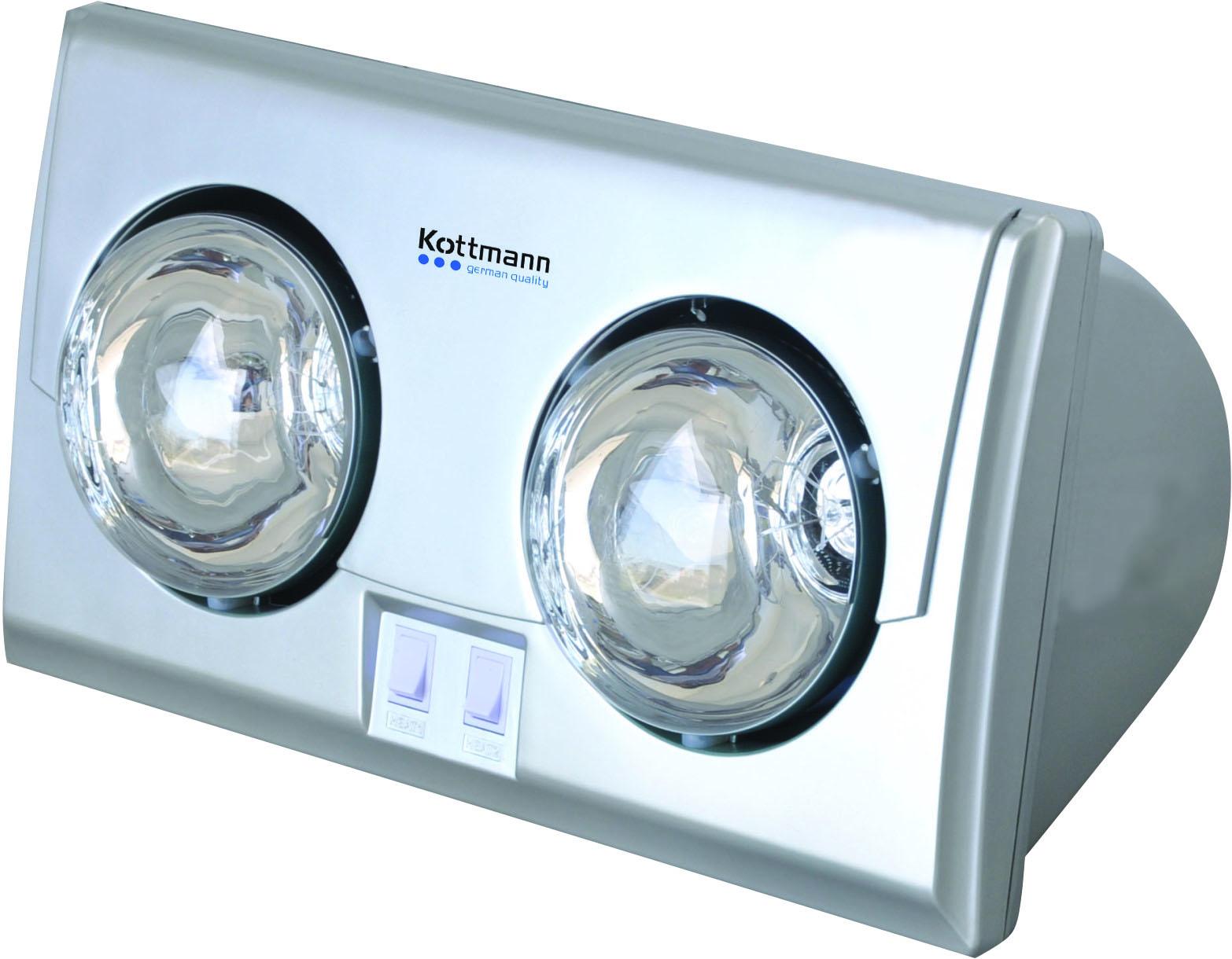 Đèn sưởi nhà tắm 2 bóng bạc Kottman (K2BS)