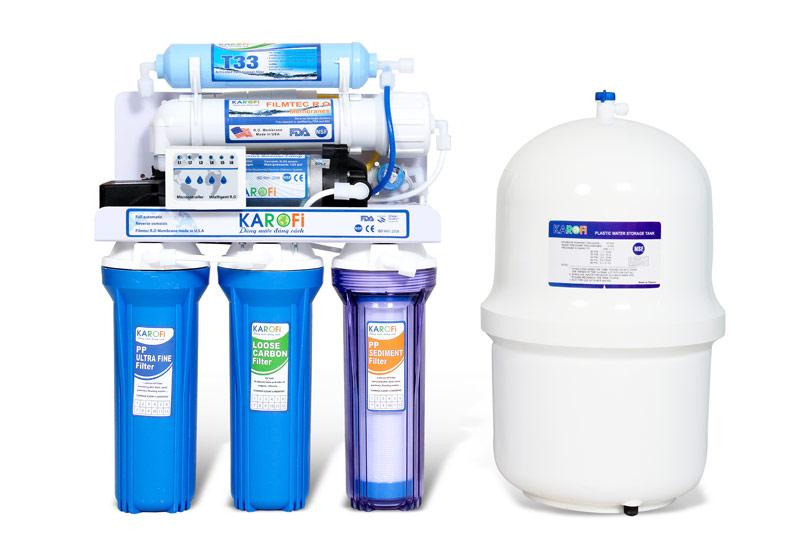 Máy lọc nước thông minh Karofi 5 cấp lọc IRO (KI5N)