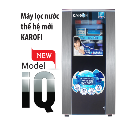 Máy lọc nước karofi thông minh iRO 8 cấp lọc tủ IQ (K8I-New)