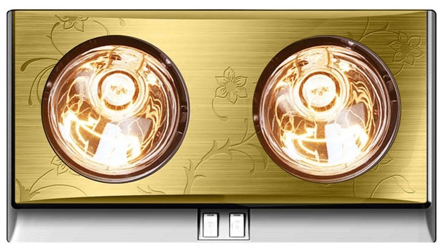Đèn sưởi nhà tắm 2 bóng vàng Kottmann (K2BG)