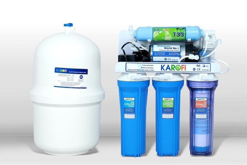 Máy lọc nước Karofi 6 cấp lọc không tủ bình áp nhựa (K6N)