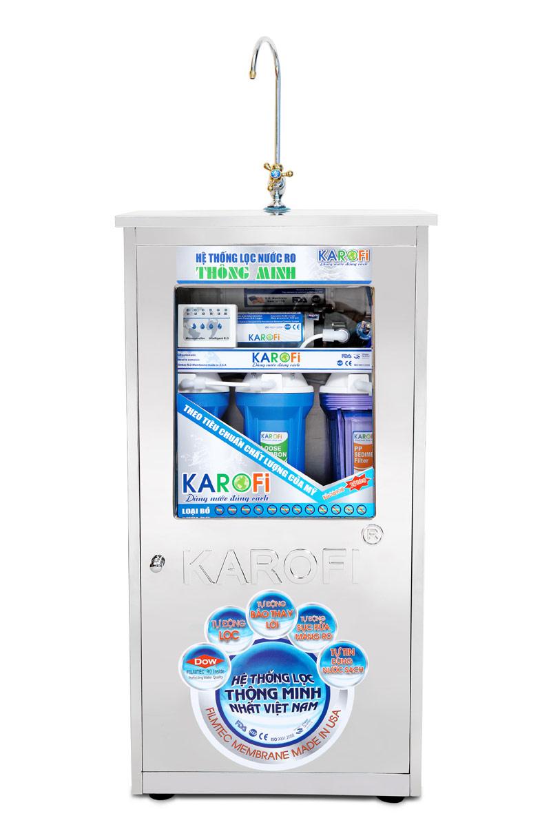 Máy lọc nước thông minh Karofi 8 lõi lọc IRO có tủ (KI8NT)