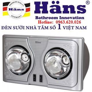 Đèn sưởi nhà tắm Hans 2 bóng (H2B)