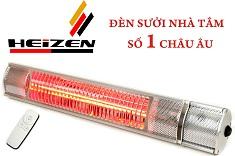 Đèn sưởi nhà tắm Heizen chống chói toàn phần 2000W có điều khiển từ xa (HEITR)