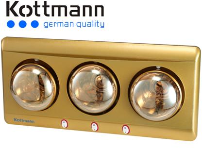 Đèn sưởi nhà tắm Kottmann 3 bóng K3BY