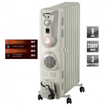 Máy sưởi ấm Tiross TS-925 (9 thanh nhiệt, 2000W)