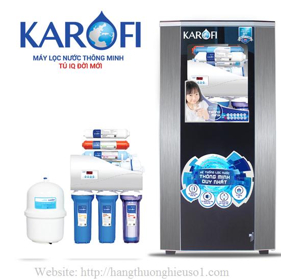 Máy lọc nước thông minh Karofi tủ IQ 7 cấp lọc IRO 1.1 (KI7-1)