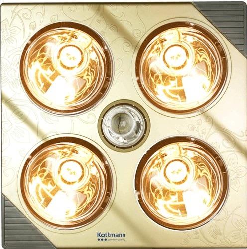 Đèn sưởi 4 bóng vàng treo tường Kottmann (K4BG)