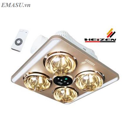 Đèn sưởi 4 bóng âm trần Heizen dùng Led – điều khiển từ xa HE9 (HE-9)