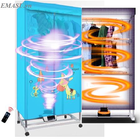 Máy sấy khô quần áo diệt khuẩn Emasu Nhật Bản - ET308UV