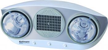 Đèn sưởi nhà tắm Kottmann thổi gió nóng 2 bóng bạc (K2B-HW-S)