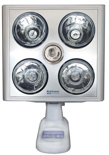 Đèn sưởi nhà tắm 4 bóng bạc treo tường Kottmann (K4B-S)