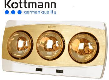 Đèn sưởi nhà tắm kottmann 3 bóng vàng (K3BH)